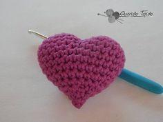 Corazon Amigurumi - Crochet Amiguruimi Heart ENGLISH SUB - YouTube