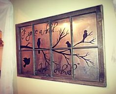 Easy and Cheap Window DIY art.