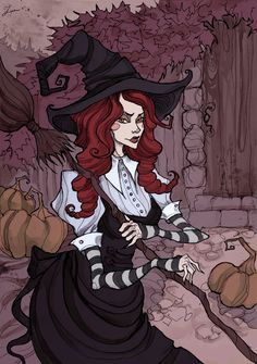 Red Haired Witch by IrenHorrors.deviantart.com on @DeviantArt