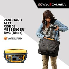 "Discount Sale...!! VANGUARD ALTA RISE 38 MESSENGER BAG (Black) Holds DSLR, 70-200mm, 3-4 Lenses, Flash 15"" Laptop/Tablet Compartment Included Rain Cover  #Way2camera #DiscountSale #Vanguard #OnlinShopping #BestProductEver Black Hold, Messenger Bag, Lenses, Shoulder Strap, Rain, Laptop, Accessories, Fashion, Rain Fall"