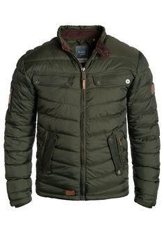 - high-quality and robust spring jacket - Fit: regular / the item fits as expected for that size - numerous details - stand-up collar with button closure - two side slit pockets two breast pockets an. Types Of Jackets, Cool Jackets, Mens Spring Jackets, Herren Winter, Herren Outfit, Quilted Jacket, Mens Fashion, Fashion Trends, How To Wear