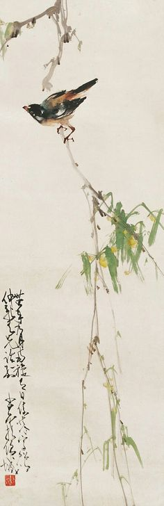 Chinese painting bird Zhao Shao Ang                                                                                                                                                                                 Más
