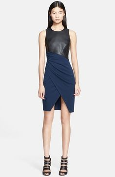 Jay Godfrey 'Vaughn' Faux Leather &  Ponte Knit Dress available at #Nordstrom