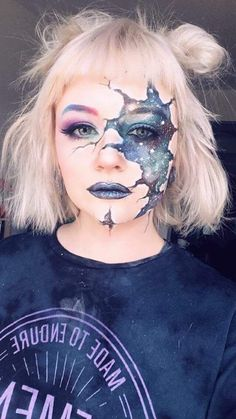 Halloween Make-up - Halloween Make-up - Crazy Makeup, Cute Makeup, Makeup Art, Fairy Makeup, Makeup Geek, Beauty Makeup, Sfx Makeup, Mermaid Makeup, Makeup Ideas