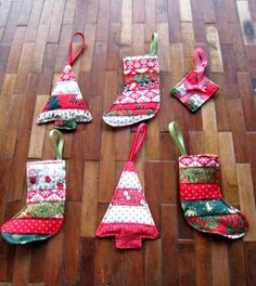 Got an hour to spare then, spend it sewing up a storm with these great quilted Christmas Tree decorations.