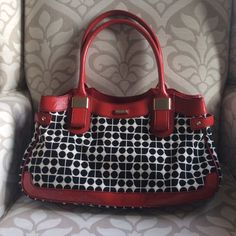 Host Pick Kate Spade ♠️ Red, White & Black Bag Barely used, excellent condition both inside and out! Only noticeable flaw is minor scratch on silver hardware pictured in 3rd pic. Please use offer button for all negotiations.  kate spade Bags