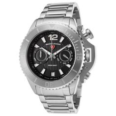 Swiss Legend 14019Sm-11 Scorpion Chronograph Stainless Steel Black Dial Ss Watch