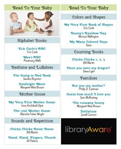 What better way to help a new parent than sharing a reading list? Our Book Squad just made a ready-to-go bookmark for you in LibraryAware.  It's easy - open and print or swap the books you want listed.