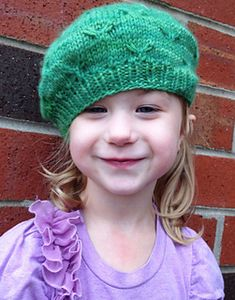 """With the many birds flying south through Wisconsin at this time of year, I was inspired to use the little bird stitch in a hat for my daughter. We've called her """"little bird"""" since she was a baby, and she is tickled pink to get her own pattern!"""