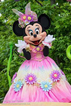 'Hippity-Hoppity Springtime' parade Minnie Mouse at Disneyland Tokyo