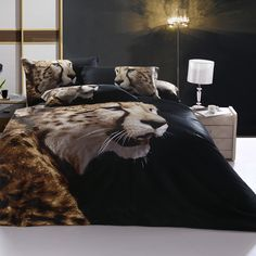 Leopard print bedding suits for you who want to make your bedroom looks fashionable. Bedding with leopard print requires the beauty of wild world. Just say good bye to your old fashioned bedding, time to replace it with the beautiful new one.