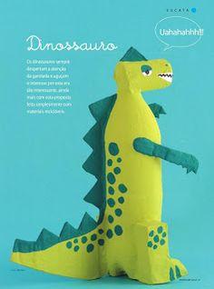 **Coisinhas Fofas**: Como fazer um dinossauro