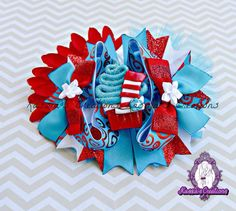 Dr Seuss bow by #kassiascreations