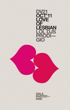 Love of lesbian poster —marindsgn by MARIN DSGN, via Flickr