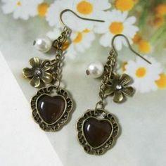 Drop Earrings Copper - One Size Copper Earrings, Drop Earrings, My Hair, Hair Beauty, Jewelry, Jewlery, Bijoux, Schmuck, Drop Earring
