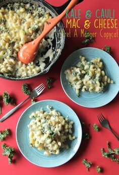 If you've ever had the Kale & Cauliflower Mac & Cheese from Pret-A-Manger you'll be thrilled with this copycat. It's creamy, flavorful, and pretty simple to make!