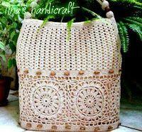 Tina's handicraft : bag with flower motif