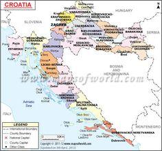 Croatia Map, Map of Croatia Croatia Map, Dalmatia Croatia, Middle East Map, Enchanted Island, Tourist Map, Country Maps, Cartography, Eastern Europe, Where To Go