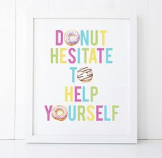 Cute sign for a Donut Party! Donut Birthday Parties, Birthday Party Themes, Birthday Ideas, 3rd Birthday, Birthday Signs, Birthday Recipes, Birthday Board, Birthday Pictures, Birthday Decorations