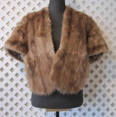 this is back in style - big time - 1970s vintage - Women Bridal Wedding Hobo Peasant Brown Fur Cap by SmartSquirrel, $60.00