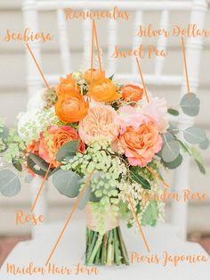 Surprising Diy Ideas: Beach Wedding Flowers Bouquet wedding flowers gypsophila pew ends. Orange Wedding Flowers, Spring Wedding Flowers, Peach Flowers, Floral Wedding, Navy Peach Wedding, Rustic Wedding, Church Wedding, Fall Wedding, Diy Wedding