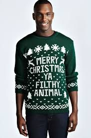 Merry Christmas Ya Filthy Animal Sweater!  Shop: uglychristmassweatersale.com Ugly Christmas sweater for the holiday fashion.. Collection of tacky and funny sweaters and jumpers for both men and women   DIY Christmas party wear for kids, girls and boys!