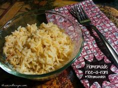"""Homemade Rice a Roni Copycat Chicken Rice-A-Roni- 2 Tbsp. butter¼ cup vermicelli or thin spaghetti, broken into ½-1"""" lengths¾ cup white long grain rice2 cups chicken broth1 ½ Tbsp. chicken bouillonSalt, to taste (optional)Pepper, to taste"""