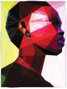 """Black Woman,"" original portrait new media by artist Enrico Varrasso (Canada) available at Saatchi Art #SaatchiArt."