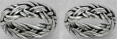 Set of TWO Matching Celtic Braided Weave Wedding Bands Rings SILVER | museumreplicajewelry - Jewelry on ArtFire