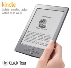 """Kindle e-Reader with Wi-Fi, 6"""" Display  Check it out at:  Techgagets.com  /index.php?page=360261"""