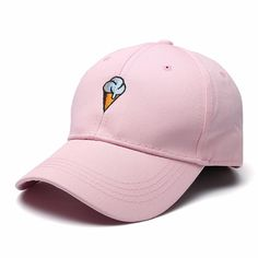 9cbb815aac2 Women Cotton Ice Cream Embroidery Sport Men Hip-hop Cap Strap Back Trucker  Baseball Hat