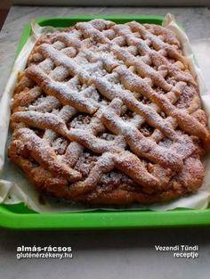Rácsos almás gluténmentes sütemény rizslisztből Vezendi Tündi egy újabb remek gluténmentes sütemény receptjét osztotta meg velünk. Almás rácsos, amelyhez rizslisztet használt. Sin Gluten, Gluten Free Recipes, Healthy Recipes, Apple Pie, Free Food, Dairy Free, Waffles, Food And Drink, Sweets