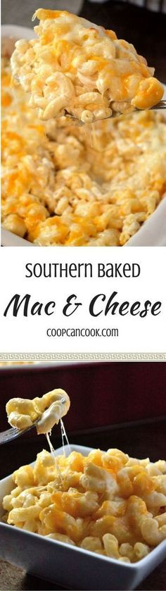 Baked Mac and Cheese - Coop Can Cook The Great Mac & Cheese Debate is serious! But, Coop's Baked Mac and Cheese recipe will meet everyone in the middle and please even the pickiest eaters! Baked Mac And Cheese Recipe, Bake Mac And Cheese, Macaroni Cheese, Mac Cheese, Cheese Recipes, Baked Cheese, Cheese Fruit, Mac And Cheese Casserole, Sausage Casserole