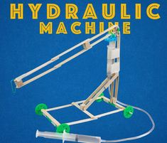 Easy Hydraulic Machines - Engineering Projects for Kids : 3 Steps (with Pictures) - Instructables Engineering Science, Engineering Projects, Stem Science, Science Fair Projects, Science For Kids, Activities For Kids, Science Education, Engineering Challenges, Steam Education