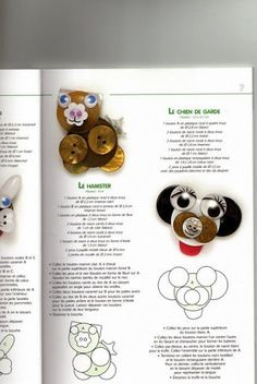 BOUTONS JOUETS - Carol Guillen Medina - Picasa Web Albümleri Small Animals, Button Crafts, Foxes, Fun Things, Creations, Child, Album, Crafty, Book