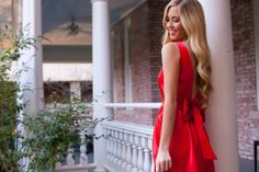 Red is ALWAYS your color during the holidays! #laurenjames #holidaydress #holidays2015