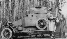 Lanchester Armored Car in woods