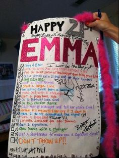 Yes, Emma survived her 21st Birthday...  And, that was quite  the feat with the birthday to-do list her good friends and sister conjured up....