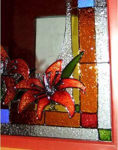 1000 images about faux vitrail on pinterest stained for Faux vitrail sur miroir