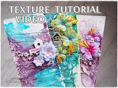 Hello and Hi my dear crafty buddies :) As always I am very happy to be back to you. Let's talk about Texture again. Mixed Media Painting, Mixed Media Canvas, Mixed Media Art, Canvas Painting Tutorials, Diy Painting, Texture Painting Techniques, Art Techniques, Hot Glue Art, Small Art