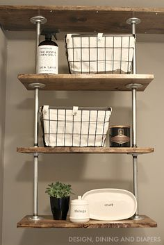Diy Pipe Shelves Inspired By Restoration Hardware There