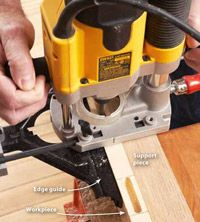 Build you own router mortising jig for precision machined mortises with a plunge router. Woodworking Jigs, Woodworking Projects, Diy Router Table, Woodsmith Plans, Wood Jig, Dowel Jig, Plunge Router, Router Jig, Different Types Of Wood