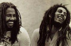 Jacob Miller & Bob Marley.  Reggae Jamaica