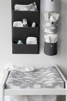 Fantastic #changetable setup with everything you need within reach but not too heavy hanging over #baby