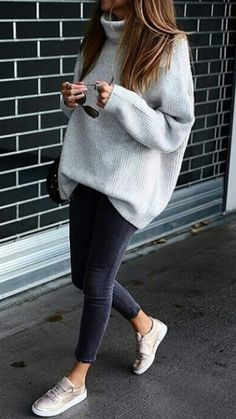 50d80752b07f Fashion | Fashion outfits | Fashion ideas | Grey outfit | Grey outfits for  women