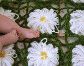 Flower Garden Baby Blanket Crochet PDF by juliebell on Etsy