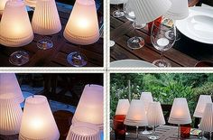 How To Make Wine Glass Candle Lamps