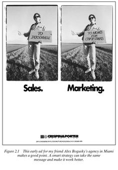 Crispin & Porter: Sales vs. Marketing. Muistakaa tämä!
