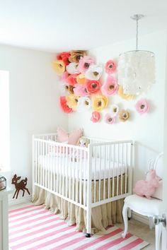 Kinderzimmer ideen für mädchen schmetterling  kinderzimmer gestalten babyzimmer für kleines baby mädchen rosa ...