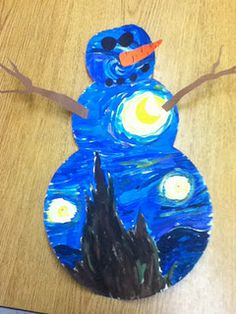 Starry Night Snowman - have students do various artist themes?